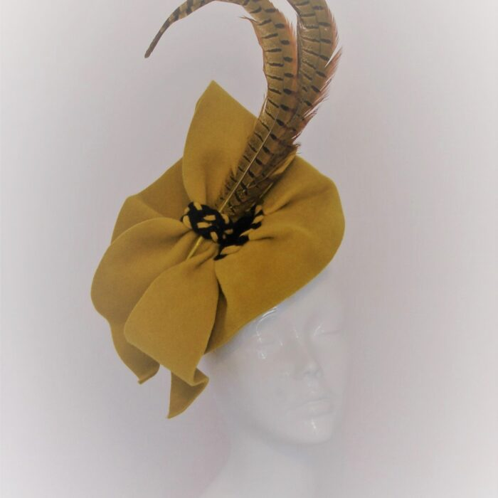 CARMEL Felt Percher hat by Feathers & Bows Couture Millinery (2)