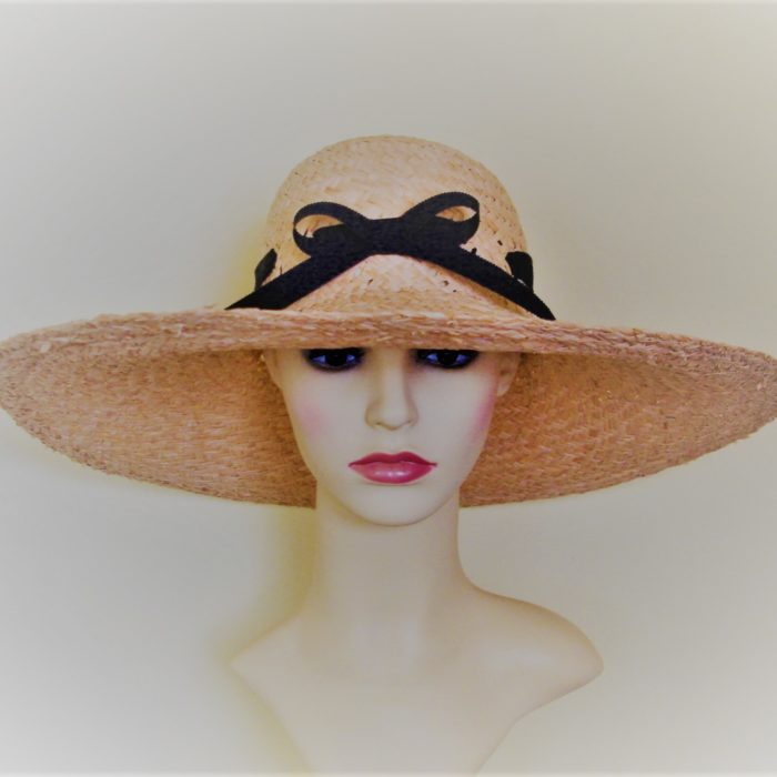 IMOGEN Summer Straw hat by Feathers & Bows Couture Millinery