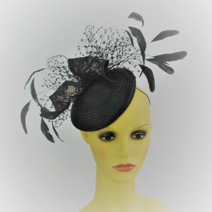 LOIS Summer parisisal hat by Feathers & Bows Couture Millinery